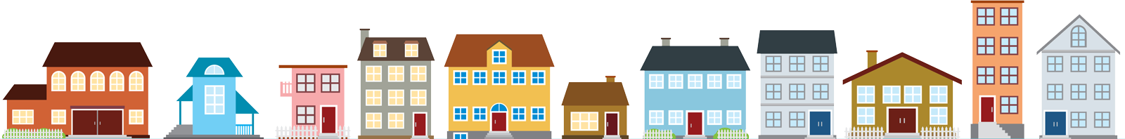 Picture of drawn Houses for Footer